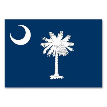 Patriotic table card with Flag of South Carolina