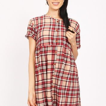 Time For A Change Plaid Dress | Ruche