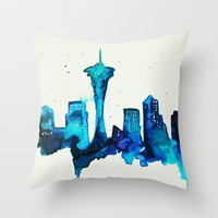 Seattle  Throw Pillow by Talula Christian