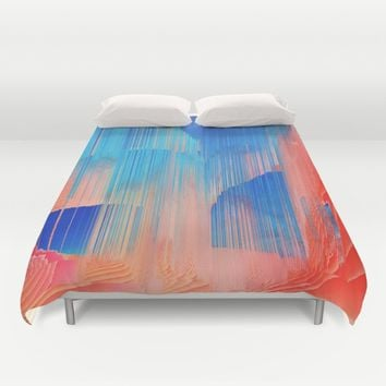 Hot n' Cold Duvet Cover by Ducky B
