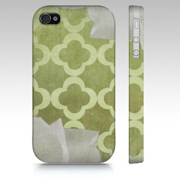 Magnolia and Clover - Iphone 4, 4s, 5 & Samsung Galaxy s3, S4 Case / cover - Green, Southern, Rustic, Chic, Cottage, Luxe, Pattern, white,