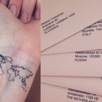 Temporary Tattoo- World Map