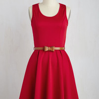 Sleeveless A-line Consistently Charming Dress