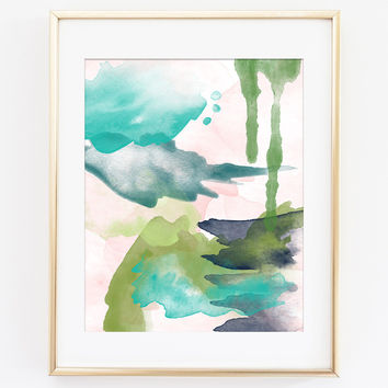 Modern Abstract Art Print 6 - Spring Light