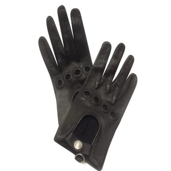 Hermes Women's Leather Driving Gloves Size 8 Fits Brown