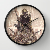 How I Survived The Zombie Apocalypse Wall Clock by Eric Fan