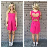 Fuschia Heartbreaker Dress