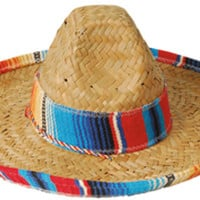 Child Sombrero with Serape Trim Case Pack 12