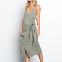 Isla Midi Wrap Dress