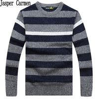 Free shipping 2017 autumn New long Sleeve sweater Men Clothing Casual knitted pullovers men striped clothing men's tops 88hfx