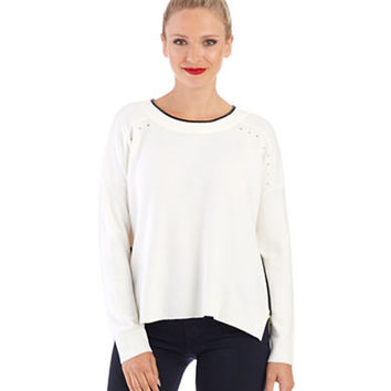 French Connection Zipper Accented Sweater