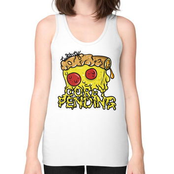 Official CoreyPending Twitch Shirt (LARGE GRAPHIC) Unisex Fine Jersey Tank (on woman)