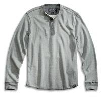 Lucky Brand Black Label Henley Mens - Heather Gray