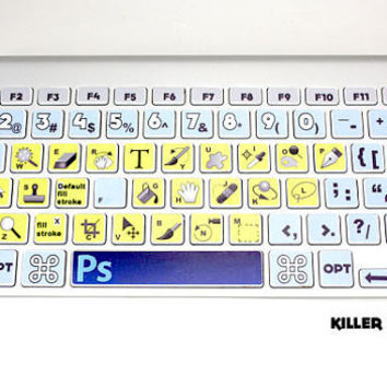 Photoshop CS5 Macbook Keyboard Skin by killerduckdecals on Etsy