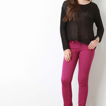 Low Rise Classic Denim Skinny Jeans