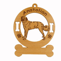 1283 Anatolian Standing Ornament Personalized with Your Dog's Name
