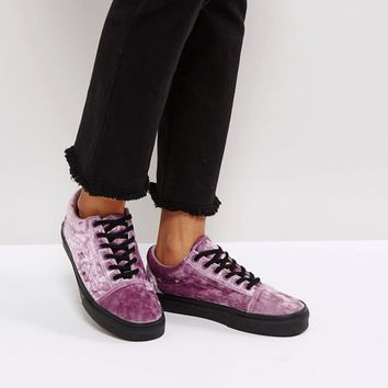 0c92299673b6d0 Vans Old Skool Trainers In Purple Velvet at asos.com