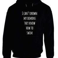 Bmth Bring Me Tothe Horizon I Can Not Drown My Demons  Lyric Hoodie