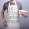 Funny 'Hot Stuff Coming Through' Apron