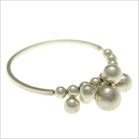 TILLY: Silver Bauble Bangle