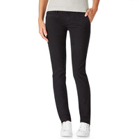 Aeropostale  Womens Slim Fit Twill Chinos - Black, 000 S