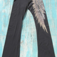 tattoo yoga pants with angel wings | Elusive Cowgirl