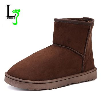 2017 Men Boots Winter Shoes Warm Snow Boots Fashion Slip On Men Winter Footwear Ankle Boots With Fur