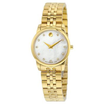 Movado Yellow Gold PVD-finished Stainless Steel Ladies Watch 0606998