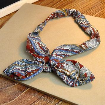 boho hairband rabbit ears knotted headband 2