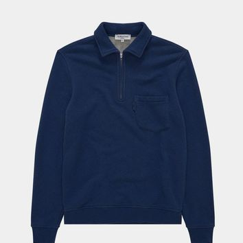 Navy Mr.Sugden Zip Top
