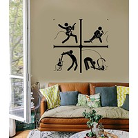 Vinyl Decal Wall Stickers Guitar Music Rock Pop Notes Art For Living Room Unique Gift (z2618)