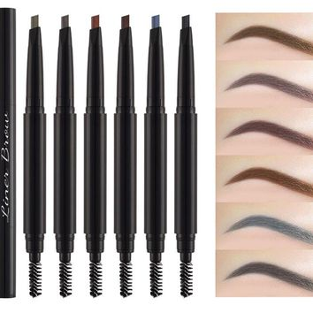 Eyebrow Liner Pencil 2 in 1 Voluminous Boosting Conditioning Eyebrow Fixing
