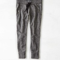 AEO Women's Zip Pocket Jogger (Heather Grey)