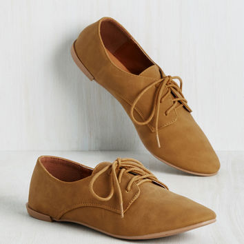 Topsy Derby Flat in Fawn | Mod Retro Vintage Flats | ModCloth.com