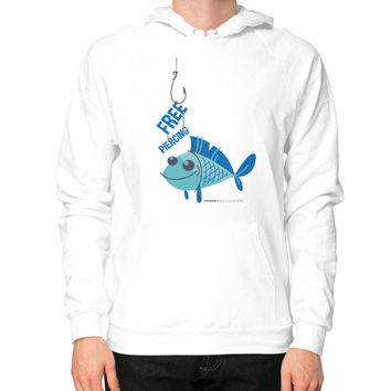 Blue Fish Hoodie (on man)