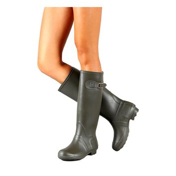 Knee High Rain Boots, Grey