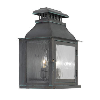 Elk Lighting 1300-OB Williams Towne Verde Patina Two Light Outdoor Sconce