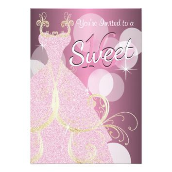 Sweet 16 Birthday Party 5x7 Paper Invitation Card