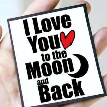 Romantic Valentines Day Card. Romantic Love You Anniversary Card for Her. Moon and Back Card.