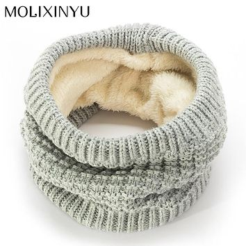 MOLIXINYU Fashion New Brand Baby Winter Scarf For Children Scarves Knitted Warm Scarf For Girls Wool Collar Baby Scarves