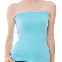 Ladies Mint Seamless Ribbed Tube Top