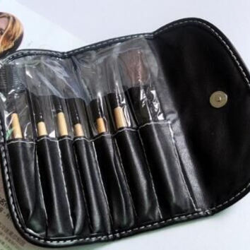 BOBBI BROWN 7PCS MAKEUP BRUSH SETS WITH LEATHER BAG