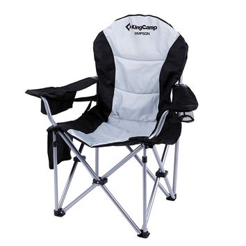 KingCamp Lumbar Support Lightweight Portable Heavy Duty Folding Deluxe Large Size Camping Chair, Carry Bag Included