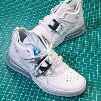 Nike Air Force 270 Triple White Sneakers Shoes - Best Online Sale