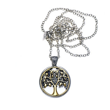 Tree Of Life Sterling Silver Bronze Reversible Necklace