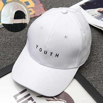 Fashion Cap Women Men Summer Spring Cotton Caps Women Letter Solid Adult baseball Cap Black White Hat Snapback Women Cap 2016