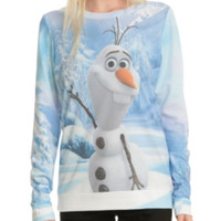 Disney Frozen Olaf Waving Girls Pullover Top
