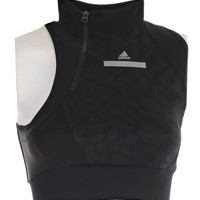 Adidas By Stella McCartney High Neck Cropped Running Top