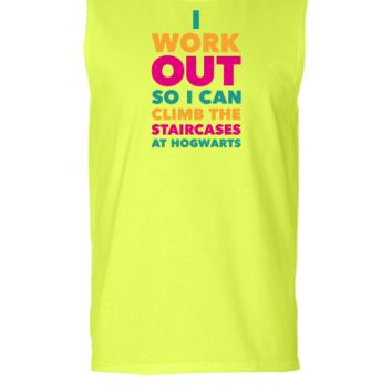 I Work Out So I Can Climb The Stairs At Hogwarts - Sleeveless T-shirt