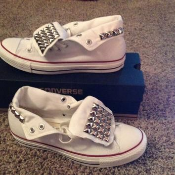Silver Studded Converse